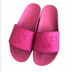 Gucci Mens Rubber Slippers/Sandals UK9 Neon pink